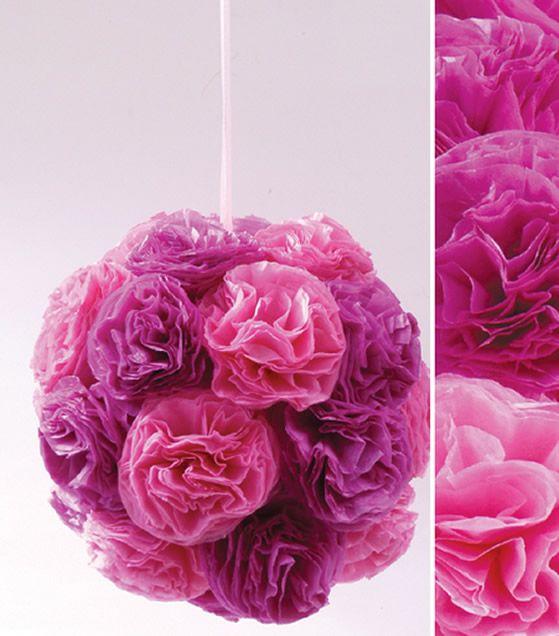 Como fazer uma decoração com papel de seda
