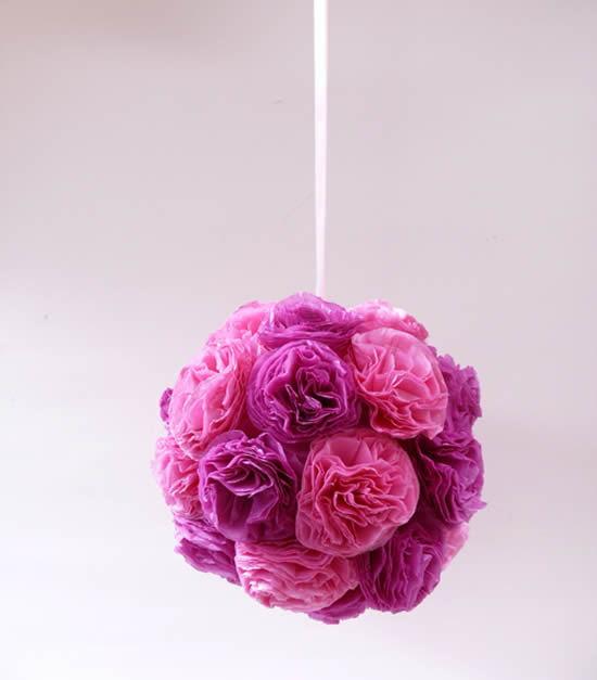 Decoração criativa com papel de seda