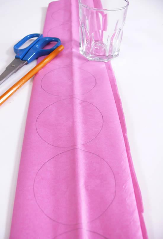 Criando decoração com papel de seda