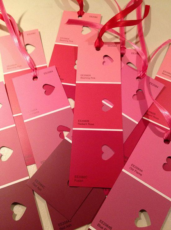 Marcadores de papel românticos para o Dia dos Namorados