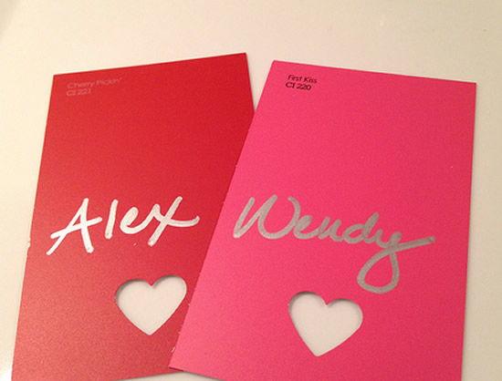 Paleta de cores para fazer artesanato no Dia dos Namorados