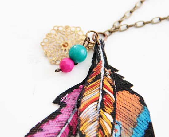 Adereço para decorar colar de pingente de tecido