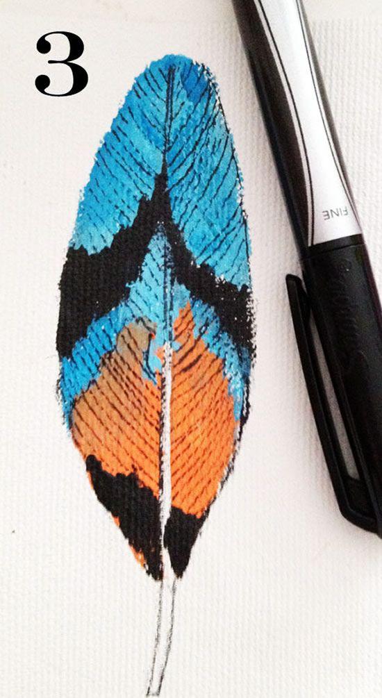 Criando detalhes na folha pintada no tecido