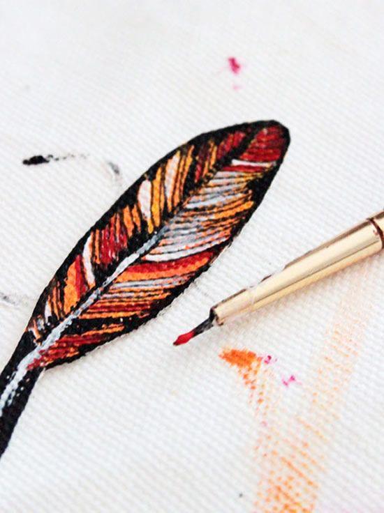 Técnica para pintar tecido