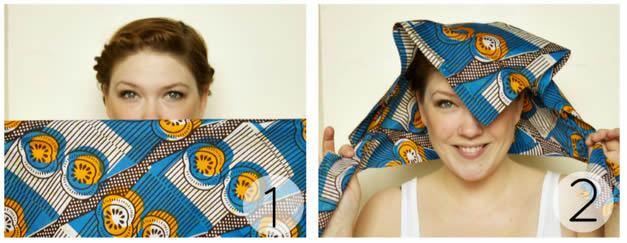 Usando bandana na cabeça de um jeito fácil
