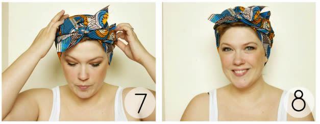 Passo a passo de como usar bandana na cabeça