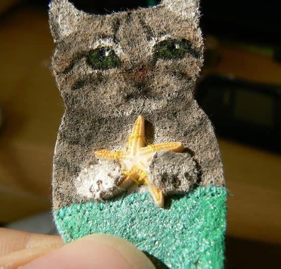 Como fazer um lindo broche em forma de gatinho