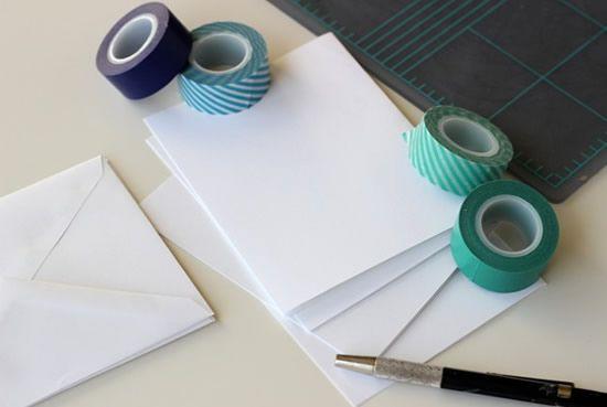 Materiais necessários para fazer o cartão personalizado