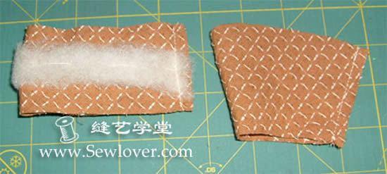 Criando a borda do jarrinho de tecido