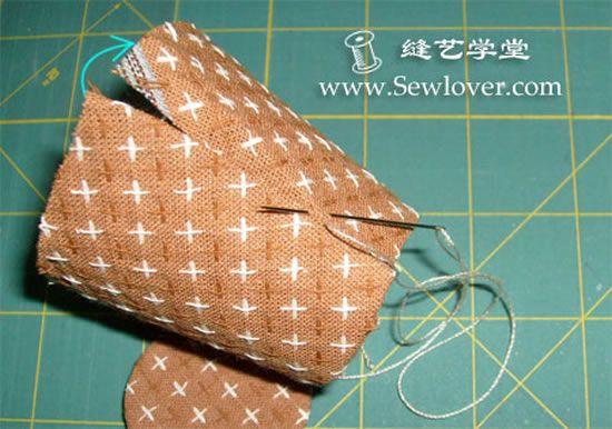 Fazendo o jarro de tecido passo a passo