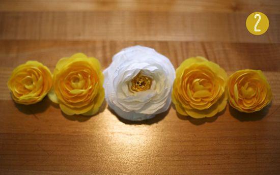Flores para fazer a coroa