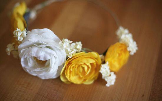 Coroa de flores passo a passo