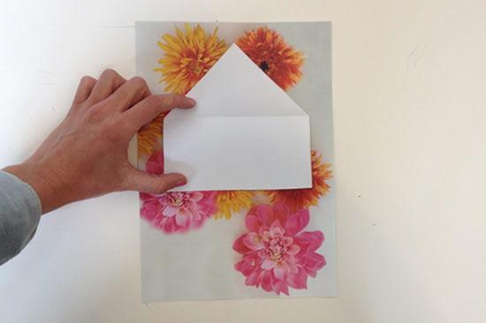 Passo a passo de envelope decorado para cartão