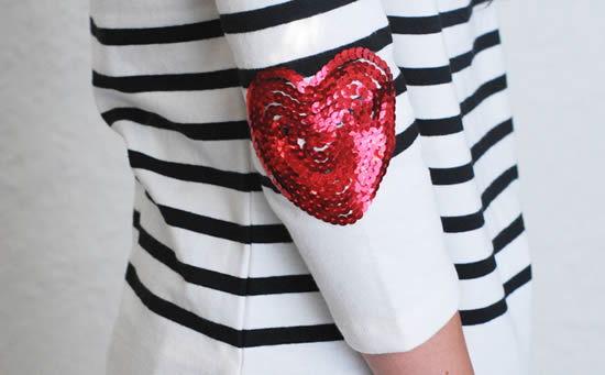 coração de lantejoulas