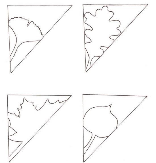 Diagrama para fazer enfeites de papel