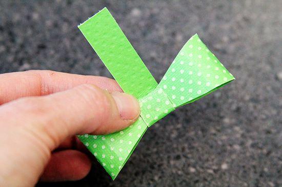 Lacinho de papel scrapbook