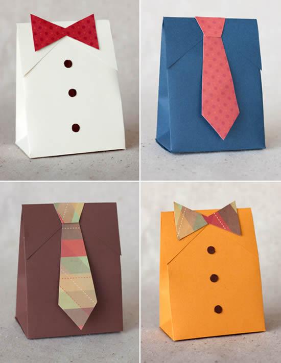 Embalagens artesanais para o Dia dos Pais