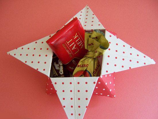 Caixinha de origami para presente do Dia dos Pais