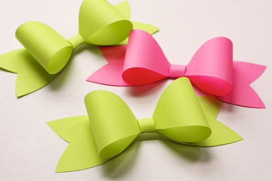 Lacinho de papel para decorar presente do Dia dos Pais