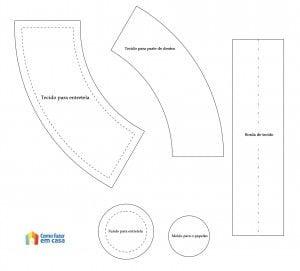 Molde de jarrinho de tecido