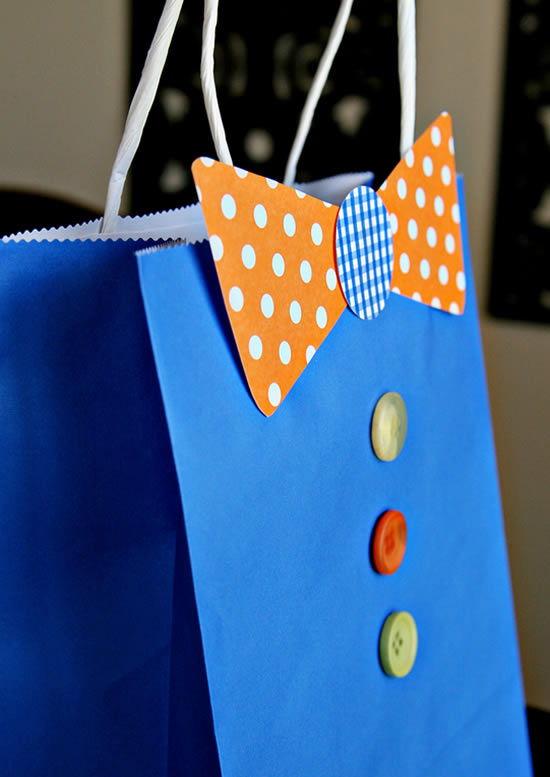 Sacolinha decorada passo a passo para o Dia dos Pais