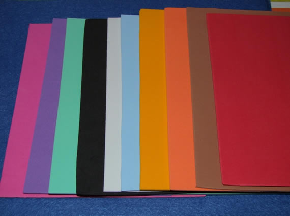 EVAs coloridos para criar decoração artesanal