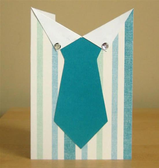 Cartão para o Dia dos Pais com molde