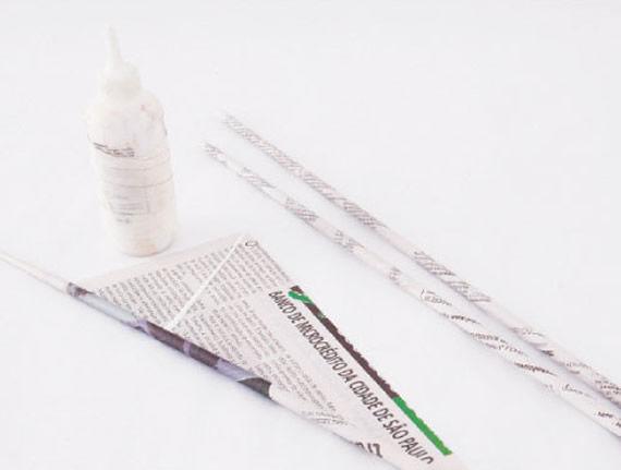 Rolinhos com jornal