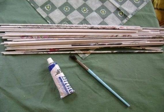 Artesanato com reciclagem de jornal
