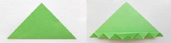 Dobradura para criar borboleta de papel