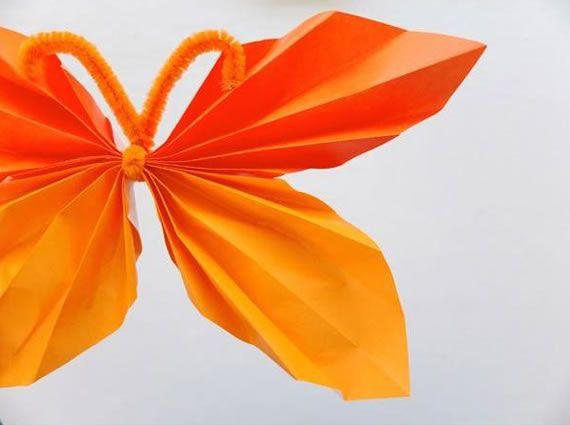 Linda borboleta de papel passo a passo
