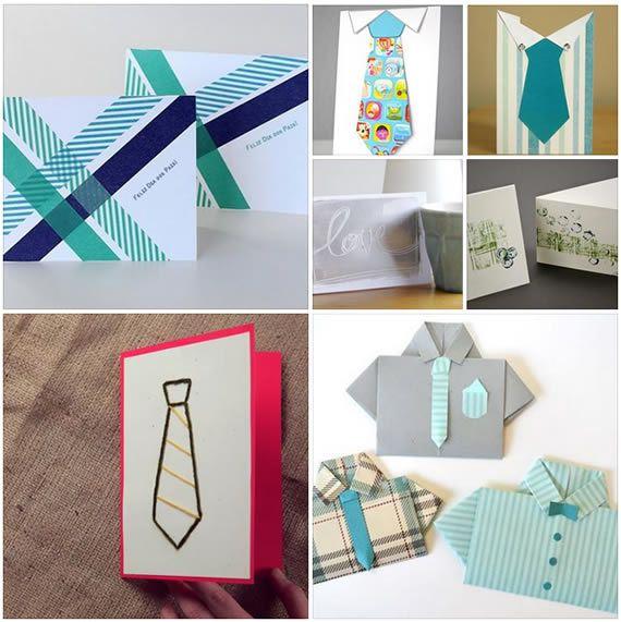 Ideias para cartões artesanais para o Dia dos Pais