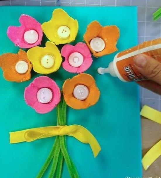 Arrematando artesanato com reciclagem - Flores coloridas
