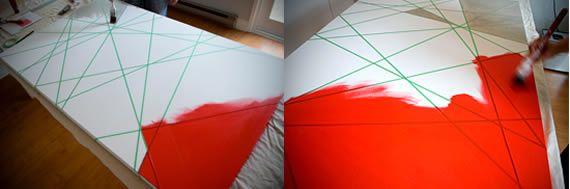 Pintando quadro para decoração passo a passo