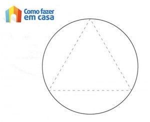 Molde para fazer bola de papel scrapbook