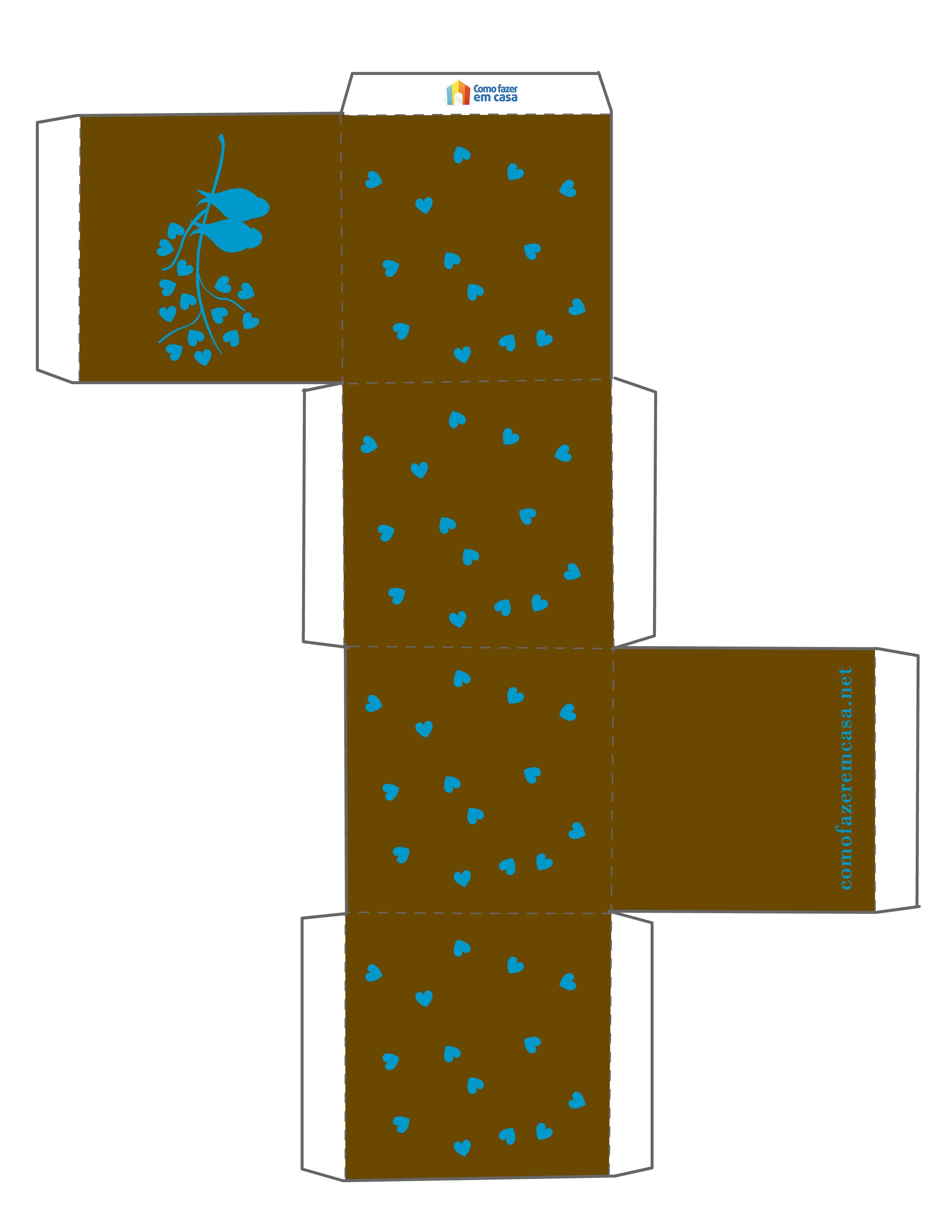 Moldes Com Estampa Para Fazer Caixas De Presente