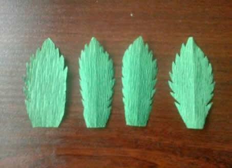Folhas de papel crepom