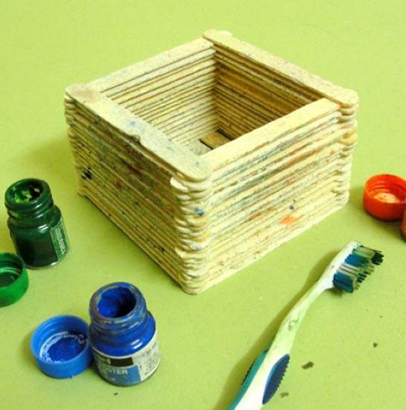 Artesanato com palitos de picolé - Reciclagem