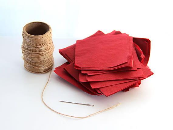 Enfeite para festa com papel de seda passo a passo