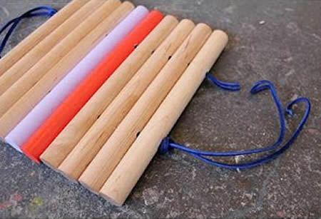 Artesanato com cabos de vassoura