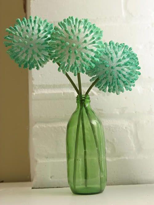 Flor de cotonete passo a passo