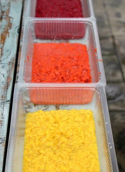 Artesanato com guardanapos coloridos