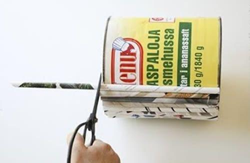 Artesanato com reciclagemde revistas