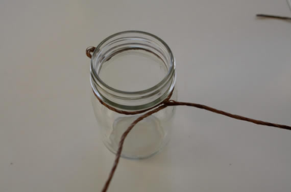 Criando artesanato com potes de vidro