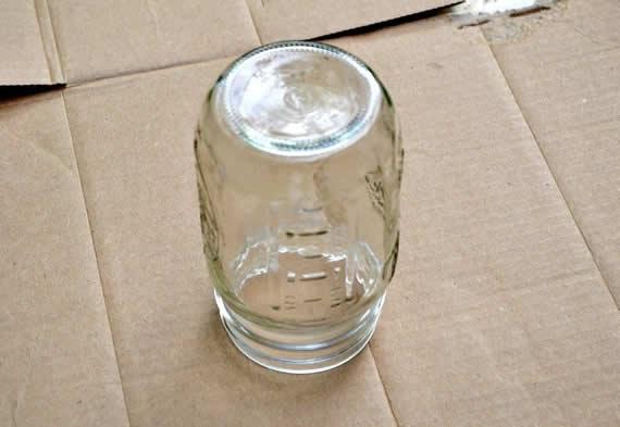 Criando artesanato com potinhos de vidro reciclados