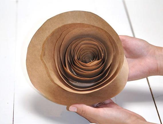 Flor de papel passo a passo - Super fácil de fazer