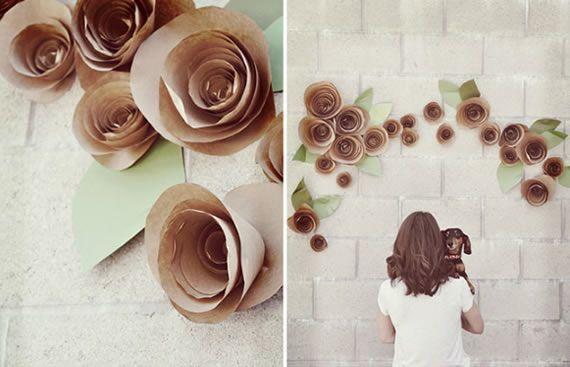 Passo a passo de florzinhas de papel simples de fazer em casa