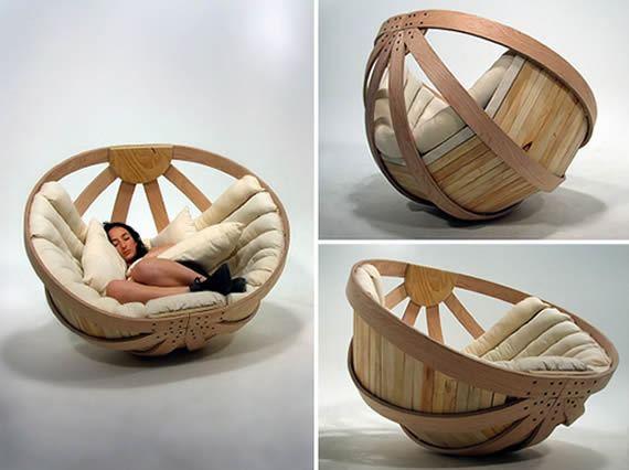Móvel criativo para descanso no escritório