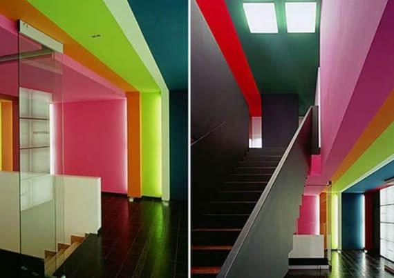 Móveis coloridos para o escritório