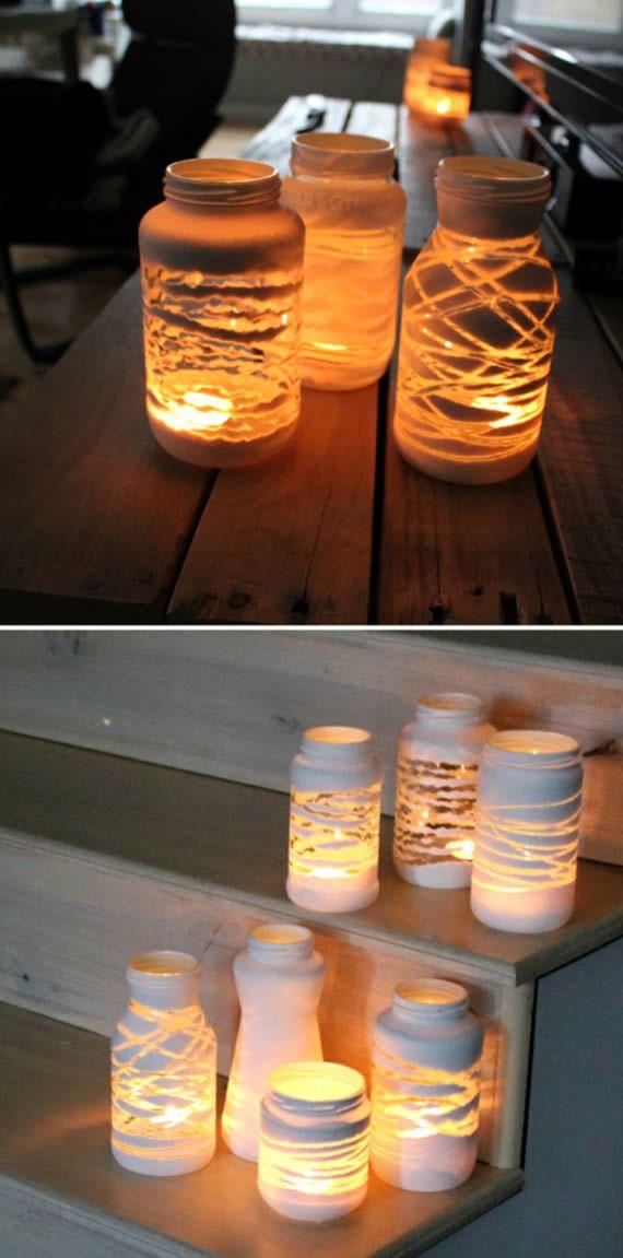 Potinhos decorados para enfeitar a casa